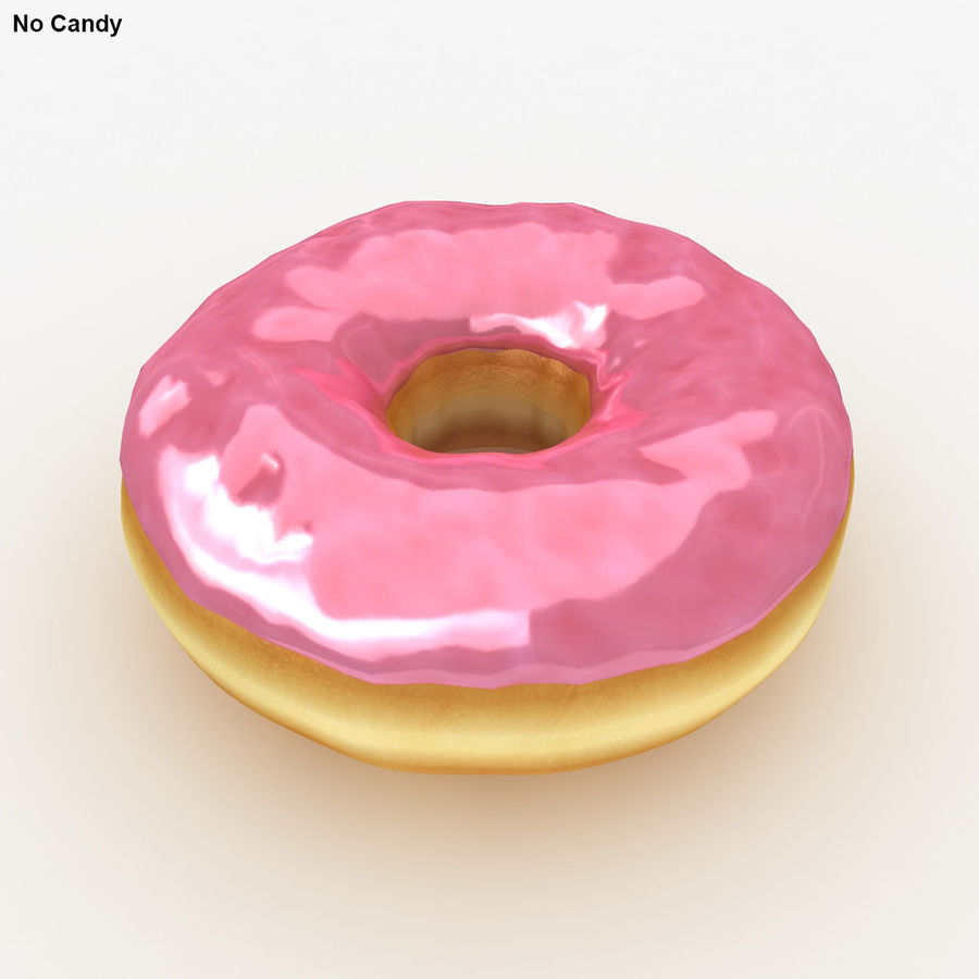 Rosa donut royalty-free modelo 3d - Preview no. 4
