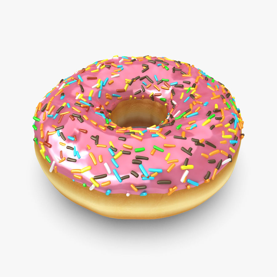 Rosa donut royalty-free modelo 3d - Preview no. 1