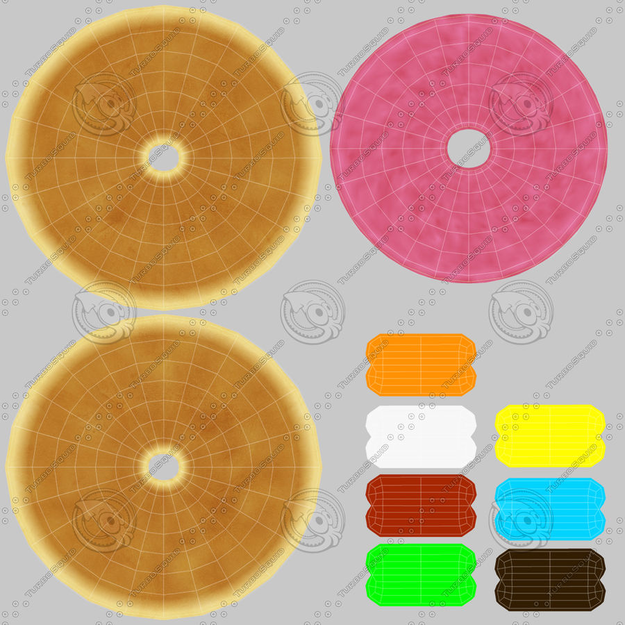 Donut Pink royalty-free 3d model - Preview no. 21