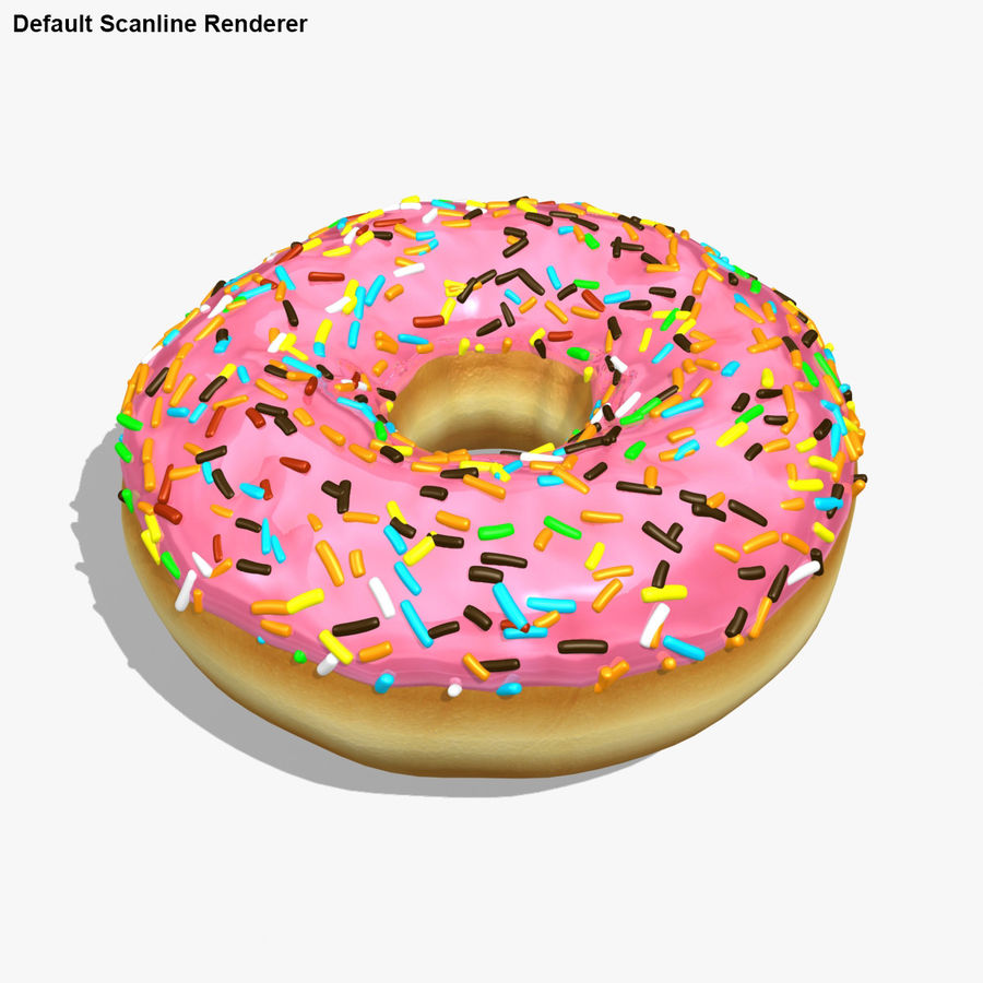 Rosa donut royalty-free modelo 3d - Preview no. 20