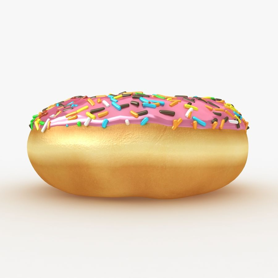 Donut Pink royalty-free 3d model - Preview no. 8