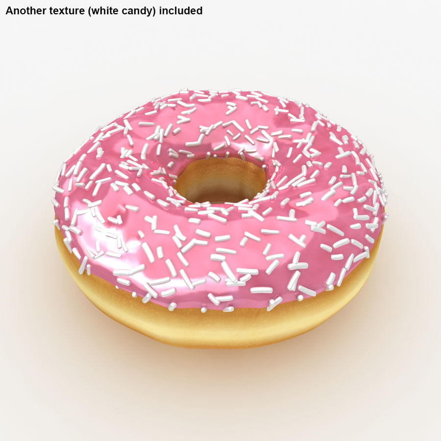 Donut Pink royalty-free 3d model - Preview no. 3