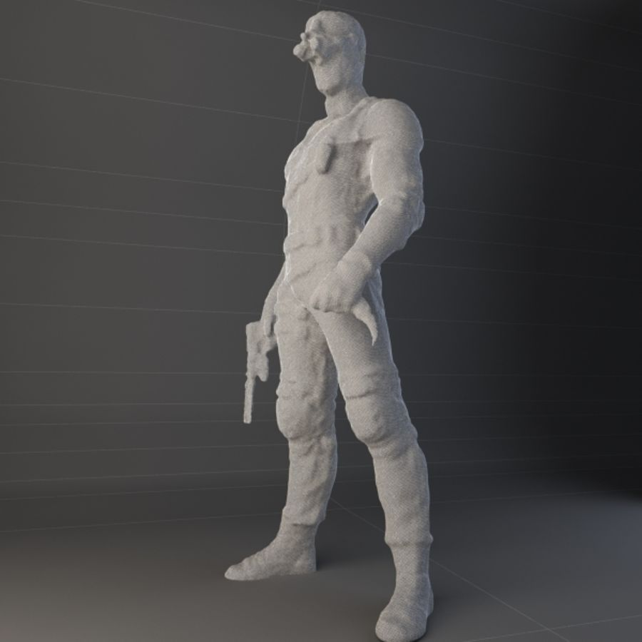 Special Op - High Poly royalty-free 3d model - Preview no. 11