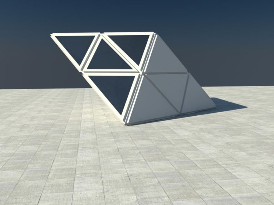 Triangle Cube royalty-free 3d model - Preview no. 5
