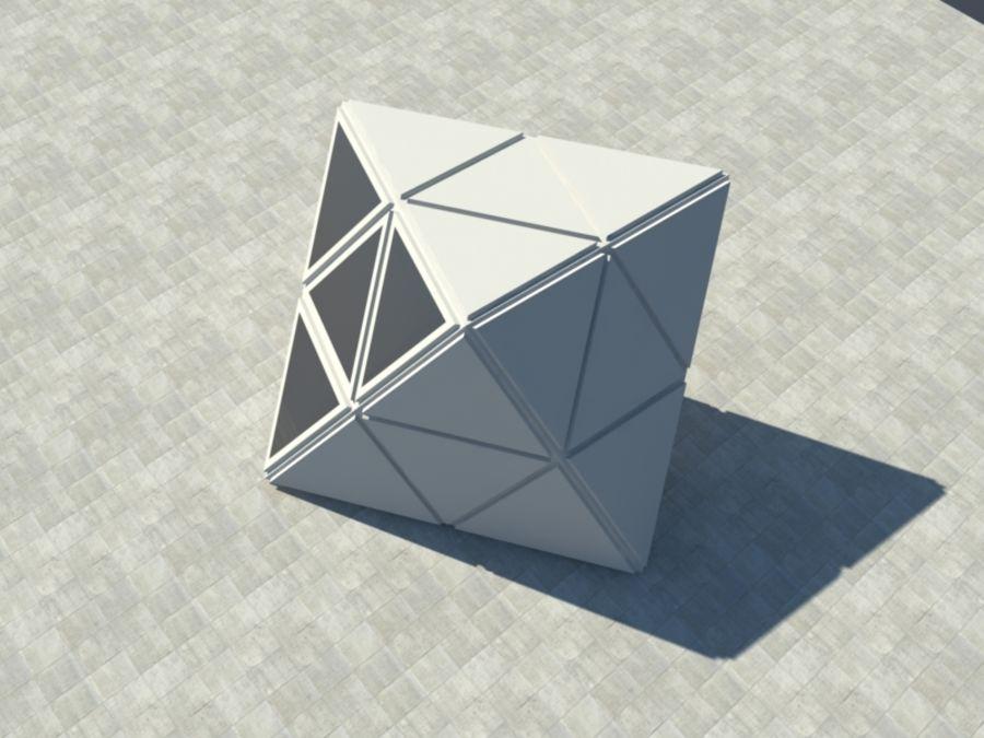 三角立方体 royalty-free 3d model - Preview no. 2