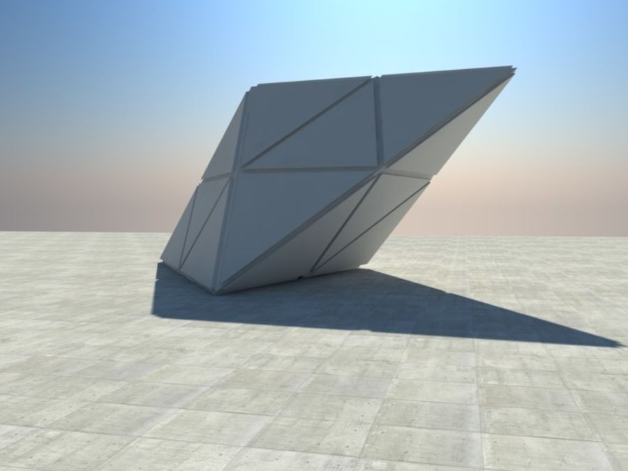 Triangle Cube royalty-free 3d model - Preview no. 1
