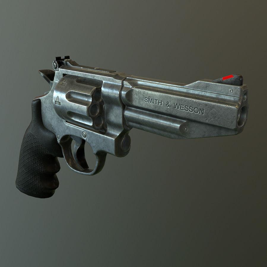 Revolver Magnum 357 royalty-free 3d model - Preview no. 2