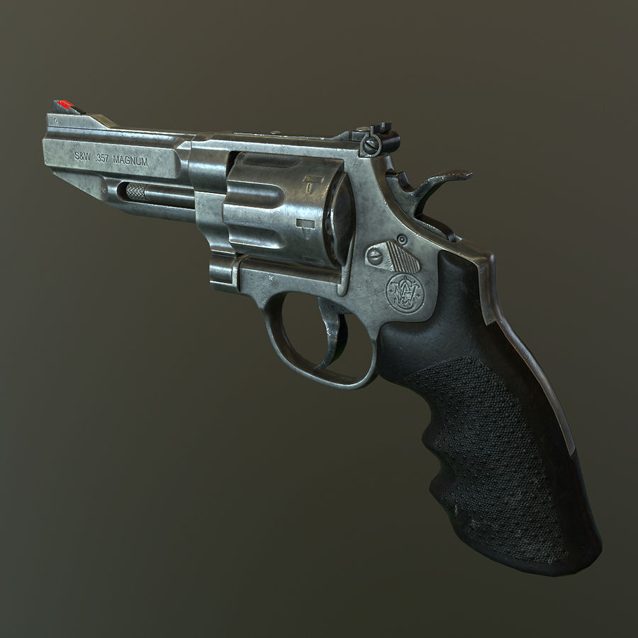 Revolver Magnum 357 royalty-free 3d model - Preview no. 1