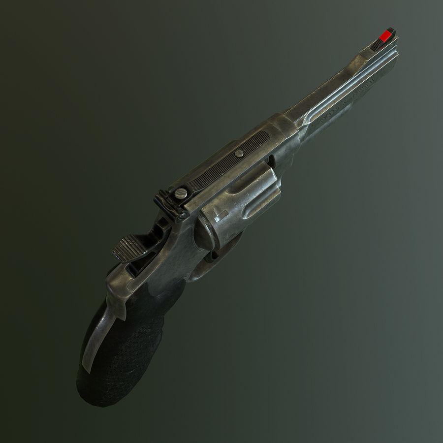 Revolver Magnum 357 royalty-free 3d model - Preview no. 4