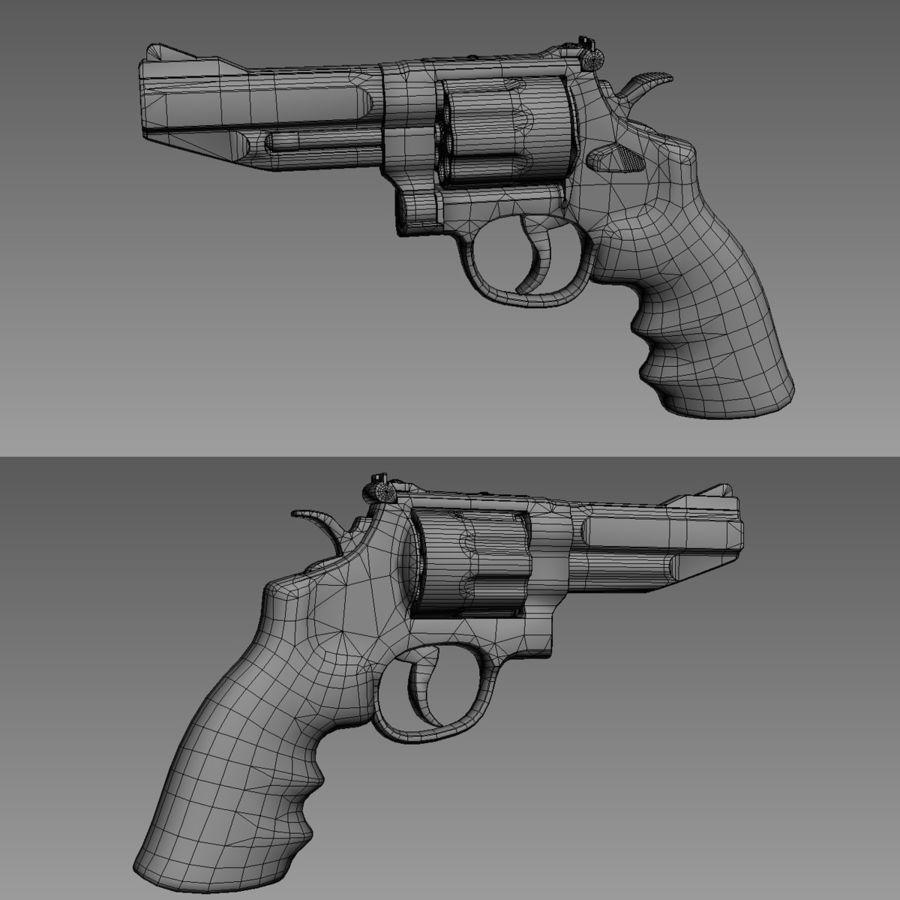 Revolver Magnum 357 royalty-free 3d model - Preview no. 5