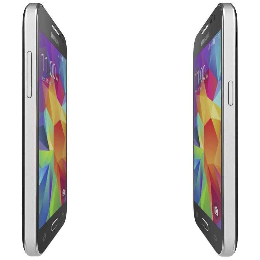 三星Galaxy Core Prime BlacK royalty-free 3d model - Preview no. 10