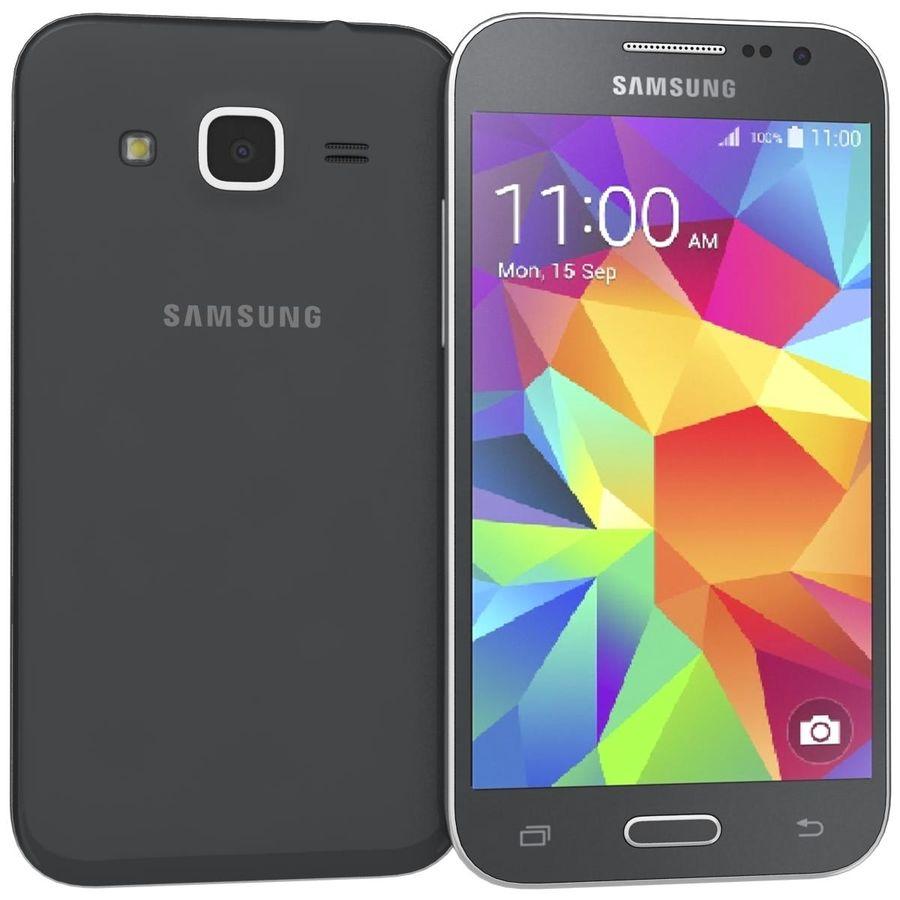三星Galaxy Core Prime BlacK royalty-free 3d model - Preview no. 1