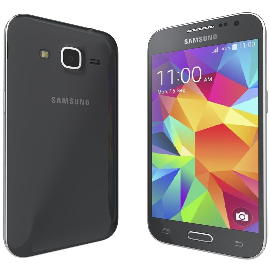 三星Galaxy Core Prime BlacK royalty-free 3d model - Preview no. 4
