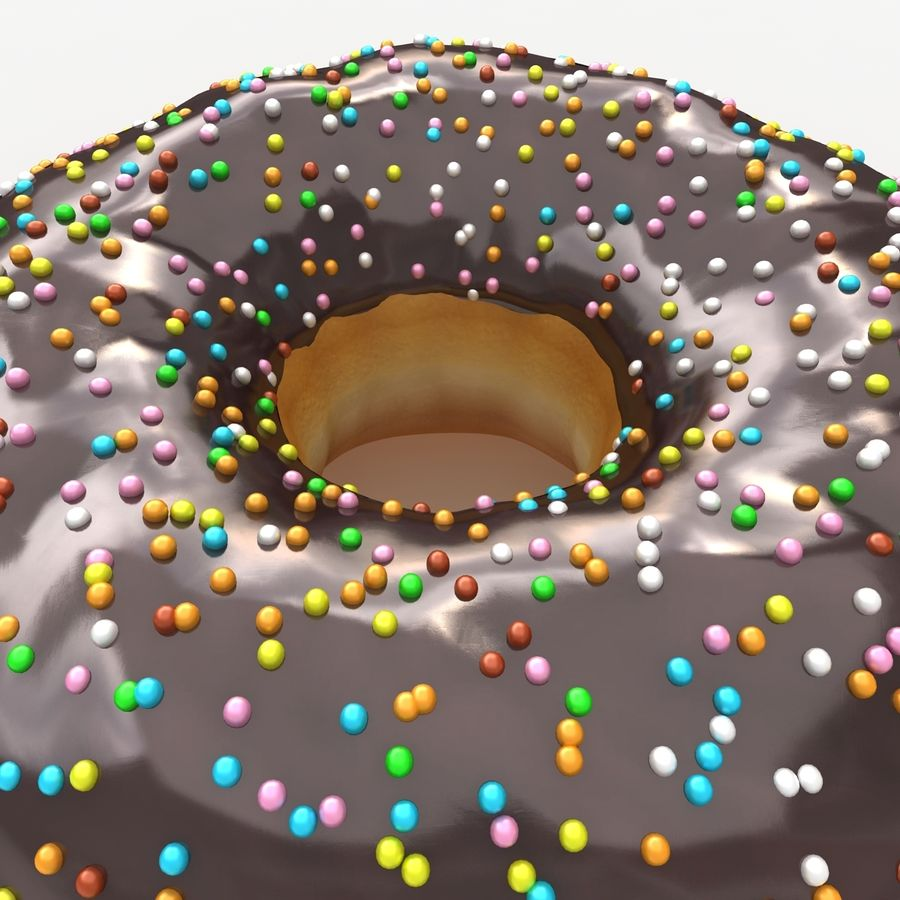 Donut Chocolate royalty-free 3d model - Preview no. 5