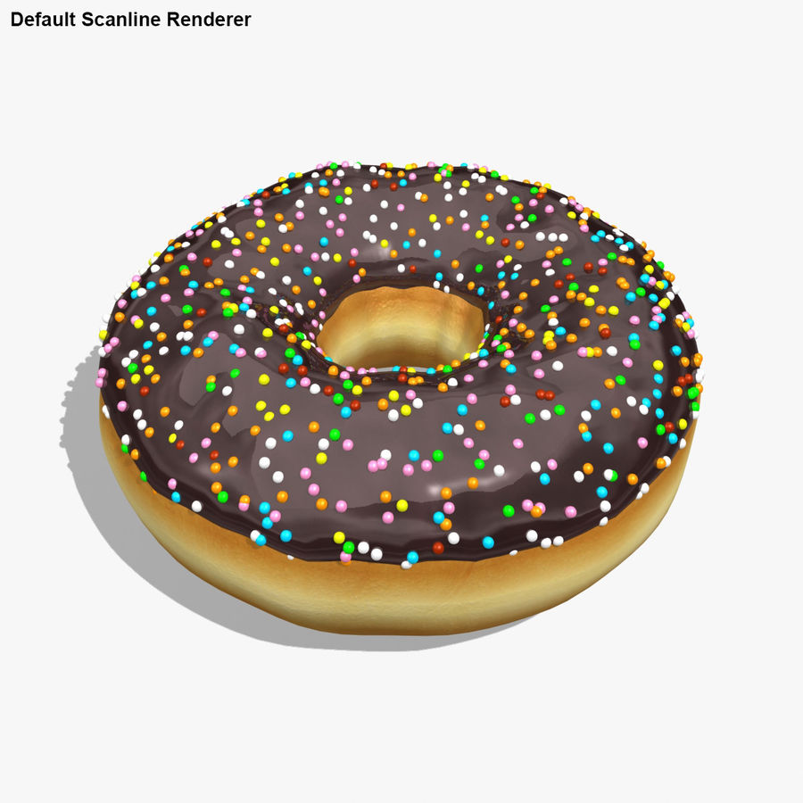 Donut Chocolate royalty-free 3d model - Preview no. 19