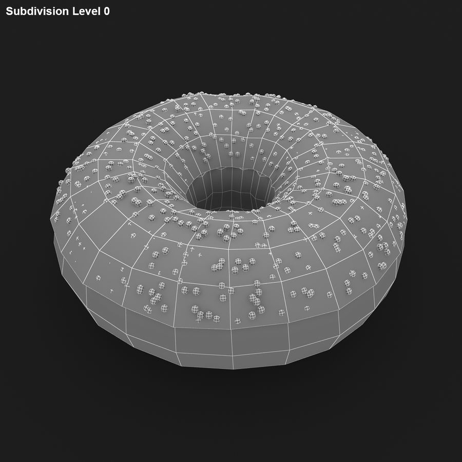 Chocolate Donut royalty-free 3d model - Preview no. 16