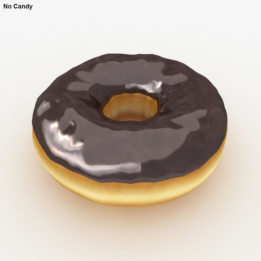Donut Chocolate royalty-free 3d model - Preview no. 3