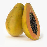 Realistic Papaya Fruit 3d model