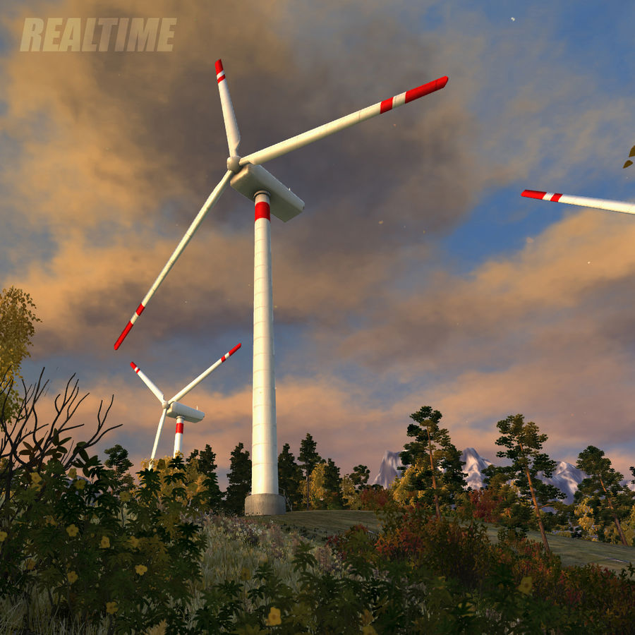 Wind Generator royalty-free 3d model - Preview no. 13