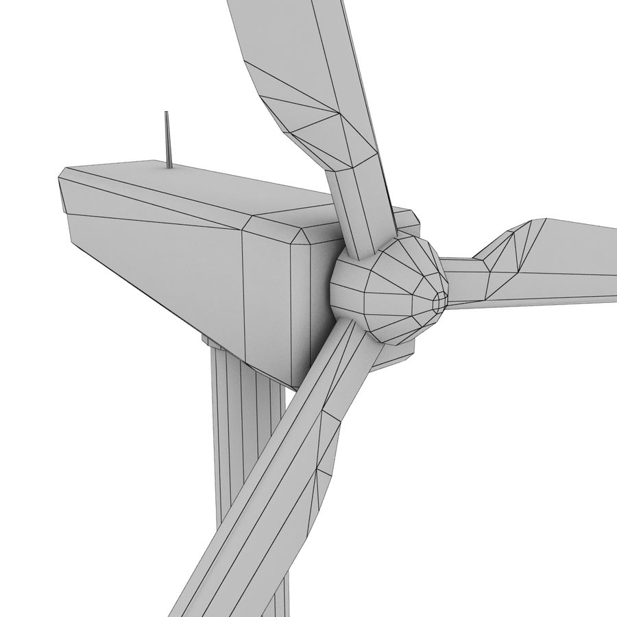 Wind Generator royalty-free 3d model - Preview no. 15
