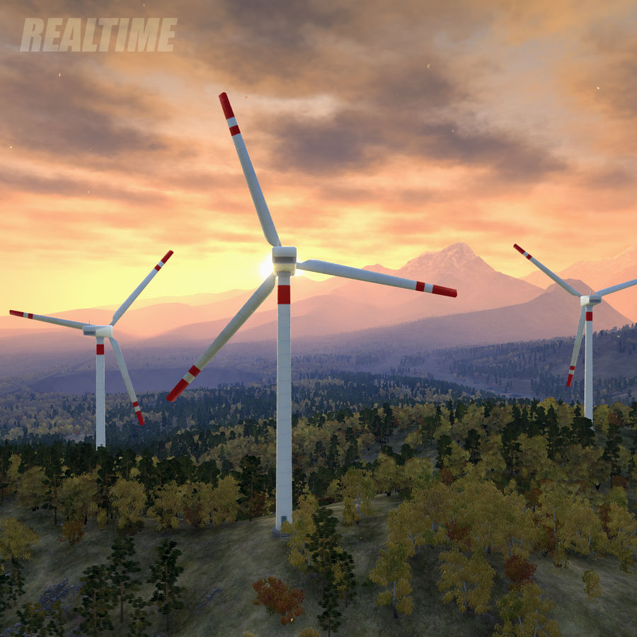 Wind Generator royalty-free 3d model - Preview no. 11