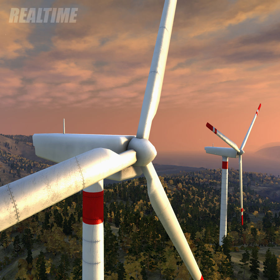Wind Generator royalty-free 3d model - Preview no. 8