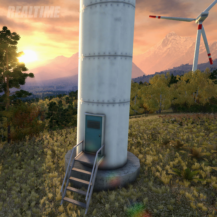Wind Generator royalty-free 3d model - Preview no. 12