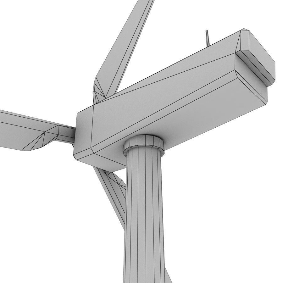 Wind Generator royalty-free 3d model - Preview no. 17