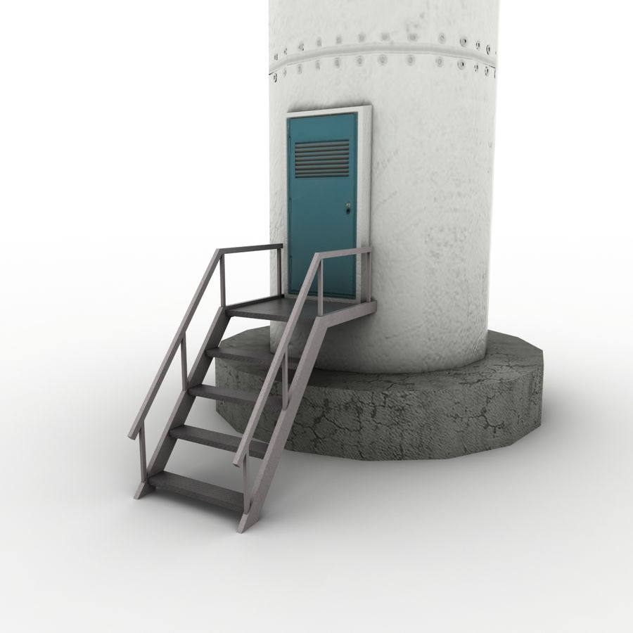 Wind Generator royalty-free 3d model - Preview no. 7