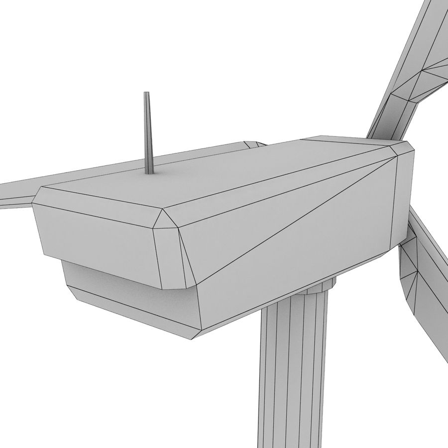 Wind Generator royalty-free 3d model - Preview no. 16