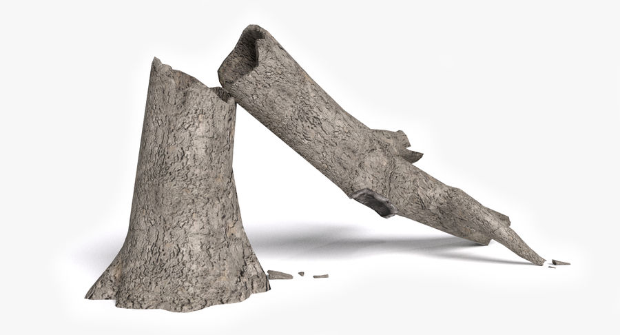 Dead Trees and Plants Collection royalty-free 3d model - Preview no. 21
