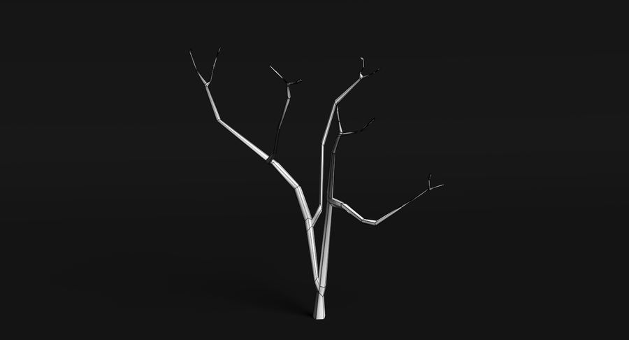 Dead Trees and Plants Collection royalty-free 3d model - Preview no. 20