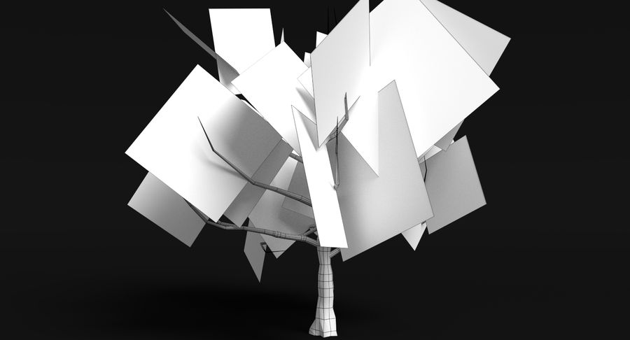 Dead Trees and Plants Collection royalty-free 3d model - Preview no. 32