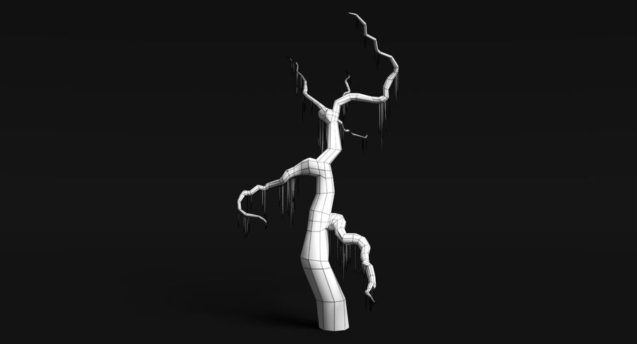 Dead Trees and Plants Collection royalty-free 3d model - Preview no. 36