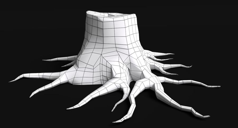 Dead Trees and Plants Collection royalty-free 3d model - Preview no. 53