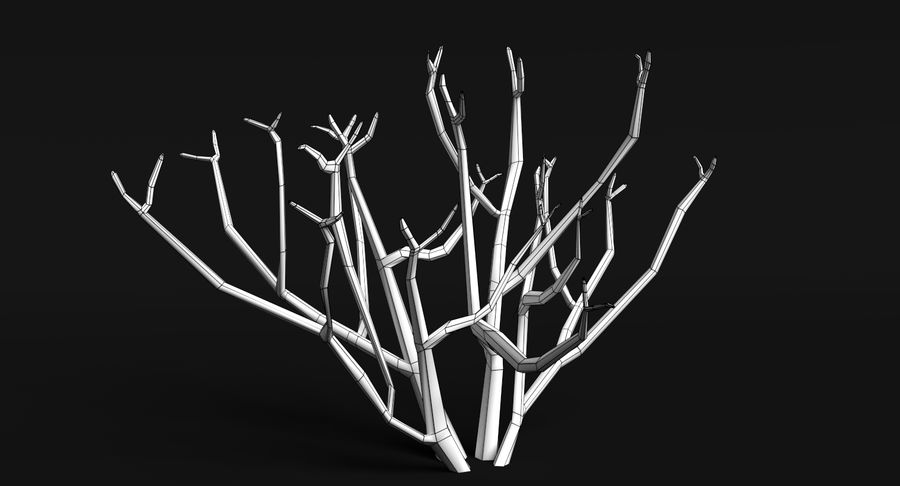 Dead Trees and Plants Collection royalty-free 3d model - Preview no. 12