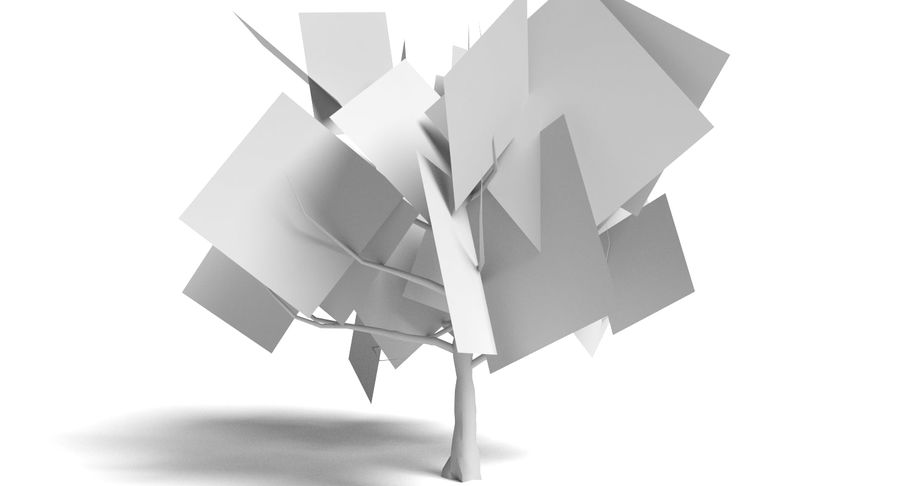 Dead Trees and Plants Collection royalty-free 3d model - Preview no. 31