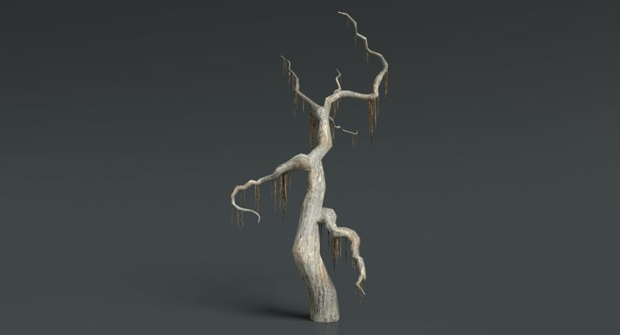 Dead Trees and Plants Collection royalty-free 3d model - Preview no. 34