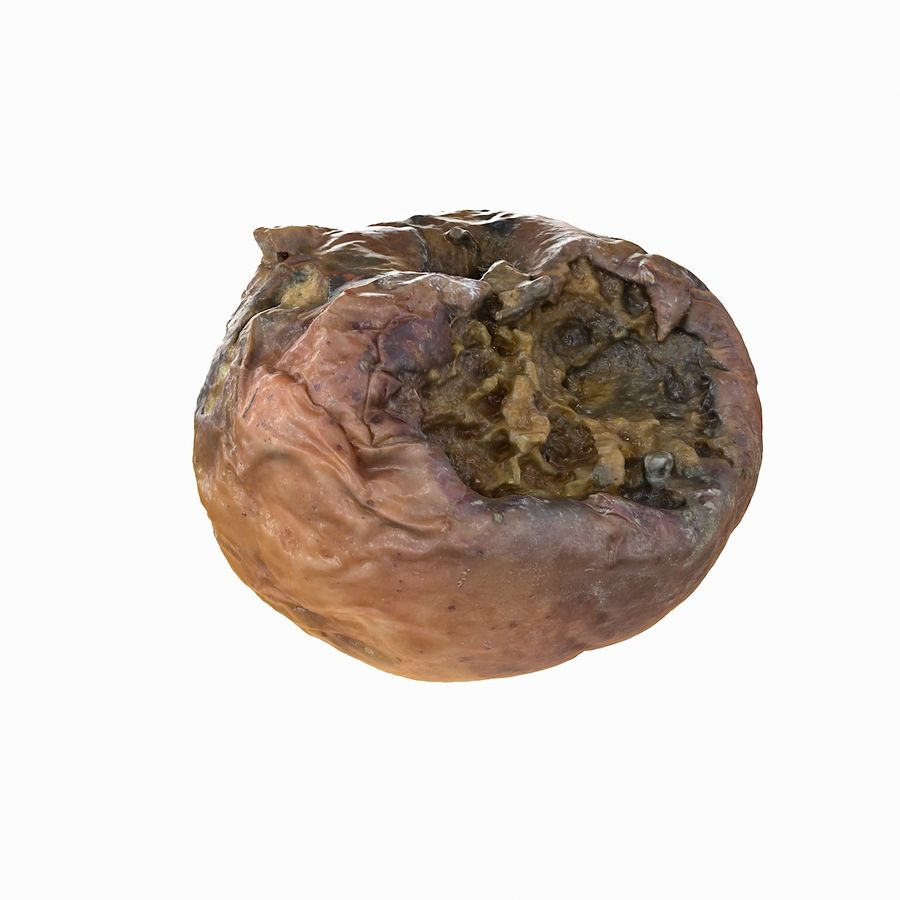 Rotte rotte Apple royalty-free 3d model - Preview no. 18