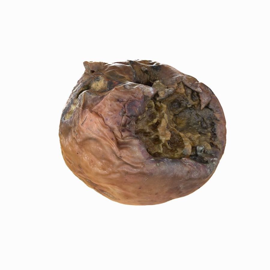 Rotte rotte Apple royalty-free 3d model - Preview no. 4