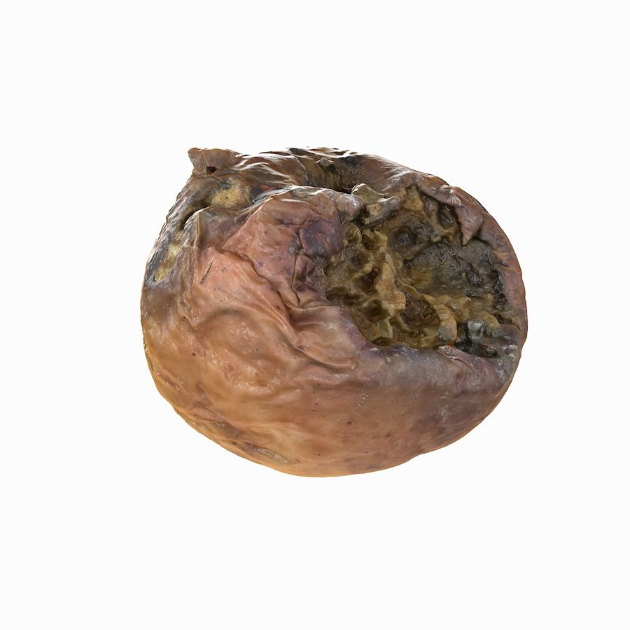 Rotte rotte Apple royalty-free 3d model - Preview no. 16