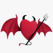 Coeur avec ailes 3d model