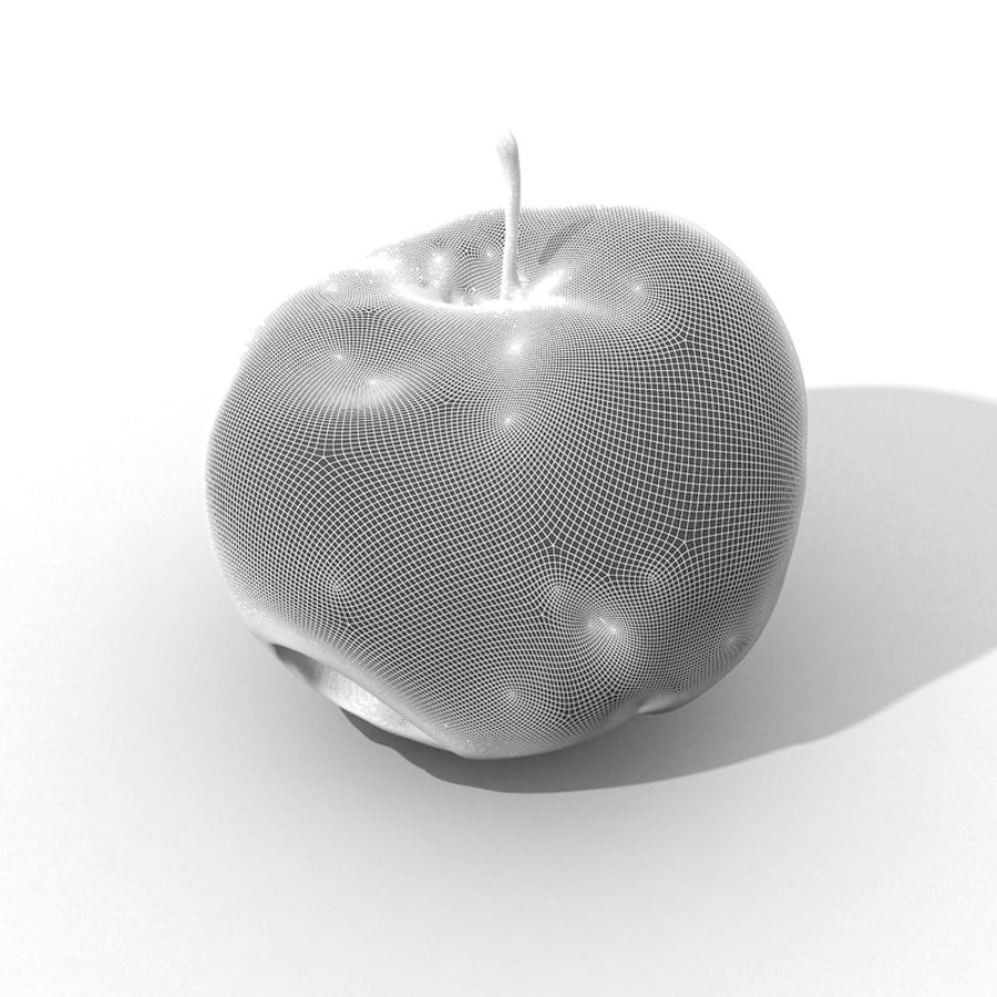Rotte Rotte Apple 03 royalty-free 3d model - Preview no. 47