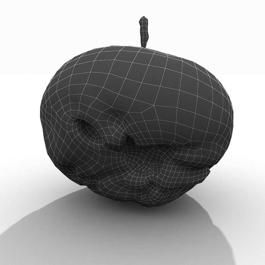 Rotte Rotte Apple 03 royalty-free 3d model - Preview no. 50