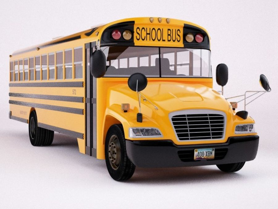 School bus American royalty-free 3d model - Preview no. 2