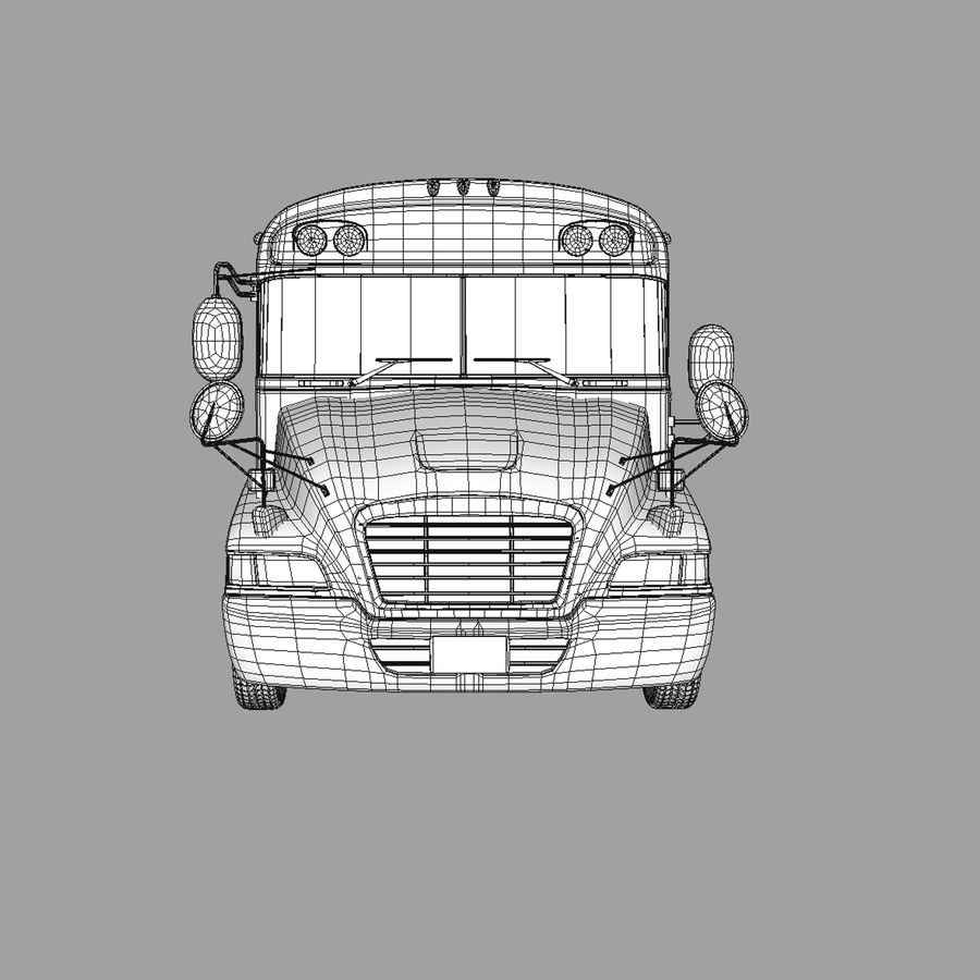 School bus American royalty-free 3d model - Preview no. 3