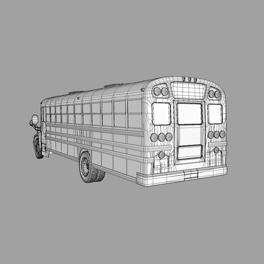 School bus American royalty-free 3d model - Preview no. 5