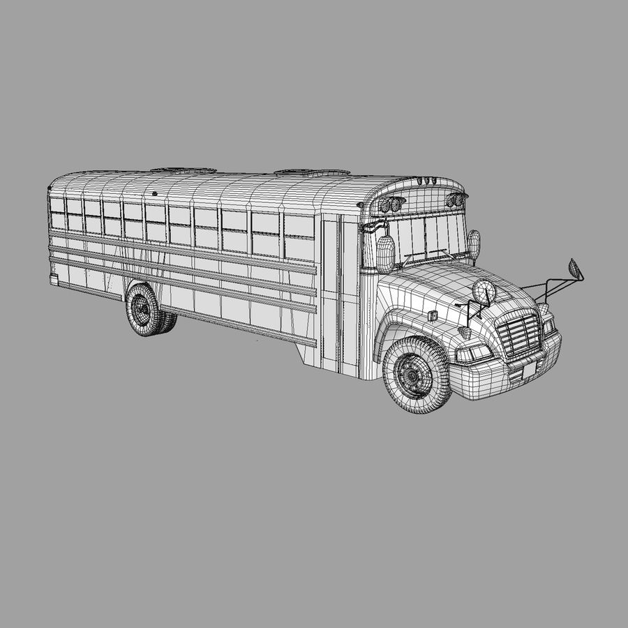 School bus American royalty-free 3d model - Preview no. 4