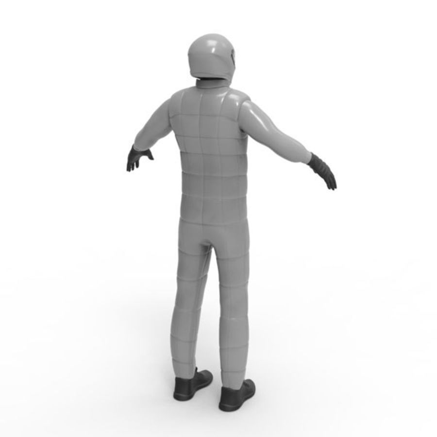 Racing driver royalty-free 3d model - Preview no. 4