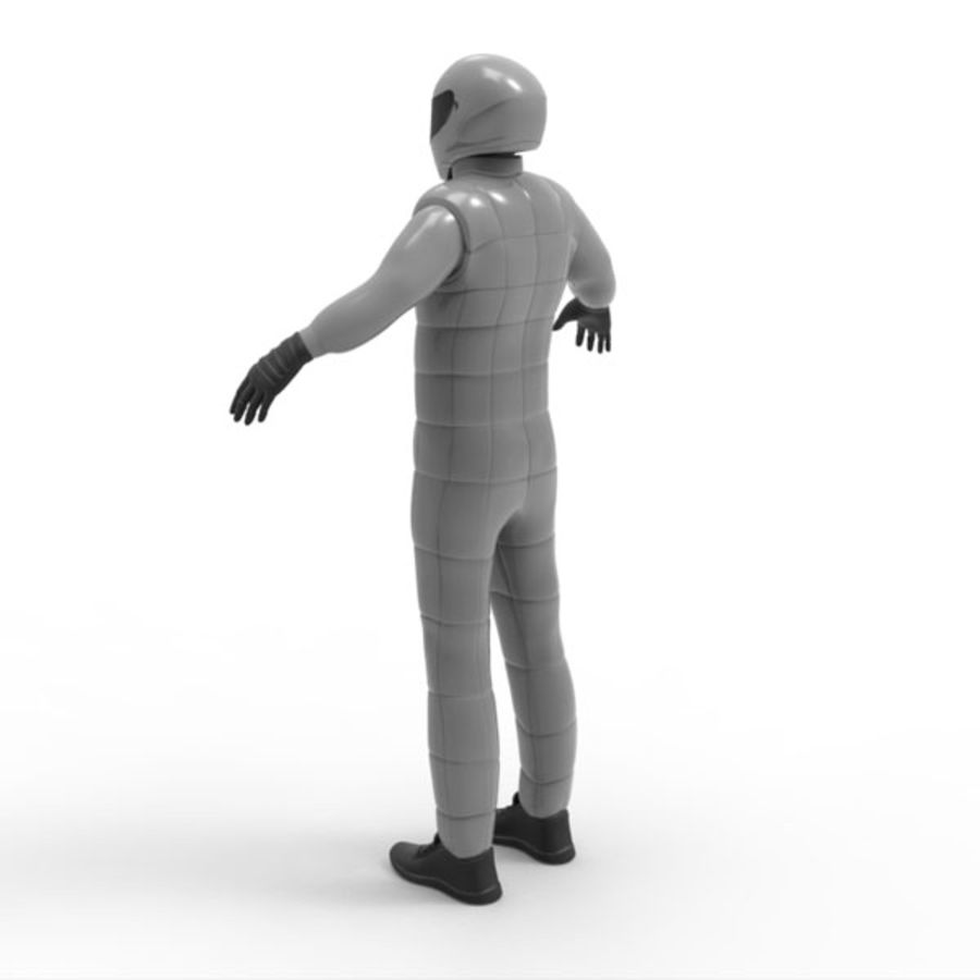 Racing driver royalty-free 3d model - Preview no. 5